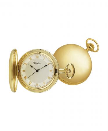Gold Half Hunter Pocket Watch (1053)