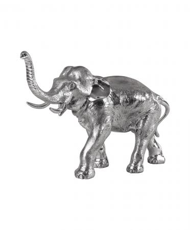 Sterling Silver Trunk Up Elephant Ornament (72)
