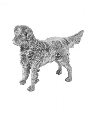 Sterling Silver Standing Retriever Ornament (9587)