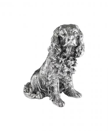 Sterling Silver King Charles Spaniel Ornament (9390)
