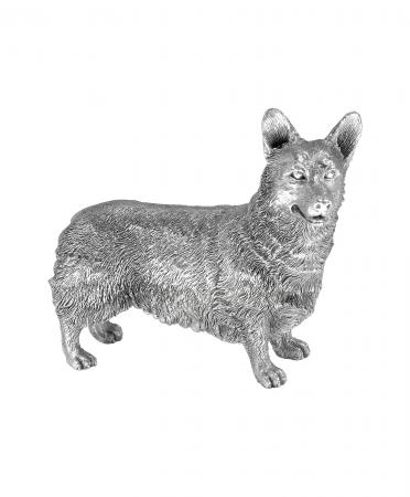 Sterling Silver Corgi Ornament (9583)