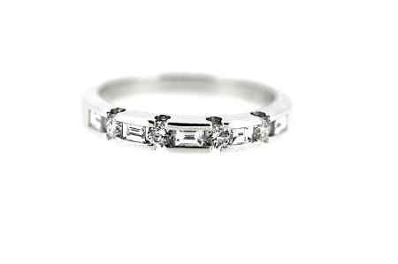 Platinum Multi Cut Diamond Band (RG002)