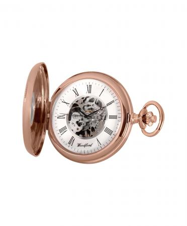 Economic Mechanical Rose Gold Pocket Watch (1092)