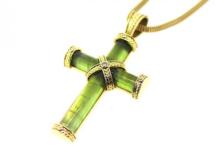 Theo Fennell Tourmaline Cross Pendant