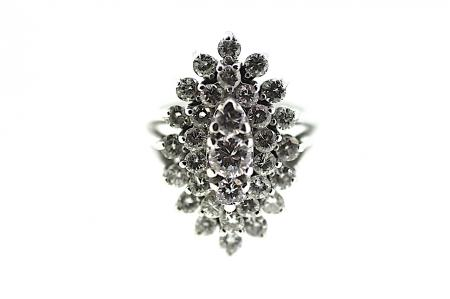 Multiple Diamond Cluster Ring (1719)