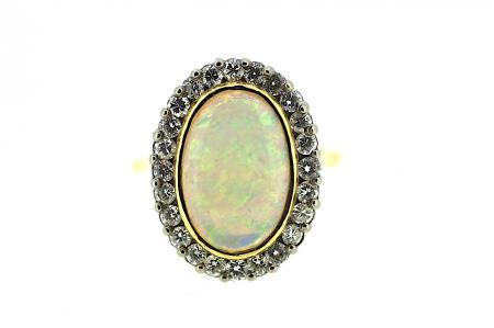 18ct Opal & 1ct of Diamonds