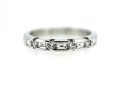 Multi Cut Diamond Wedding / Eternity Ring (RG002)