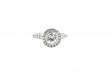 Platinum 1ct Diamond Halo (1539)