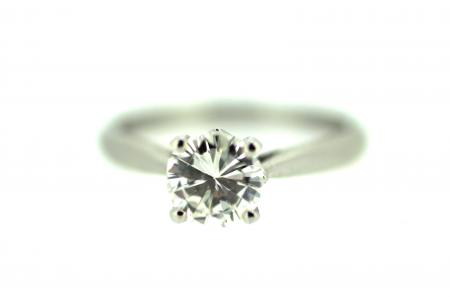 18ct White Gold 0.50ct Diamond Solitaire Twist (1806)