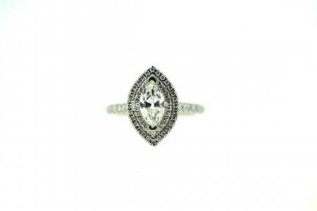 Platinum Marquise Solitaire Diamond Ring (2021)