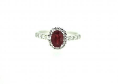 18ct Oval Ruby & Diamond Ring (NS003)