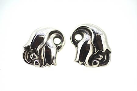 Georg Jensen Sterling Silver Tulip Earrings (2037)