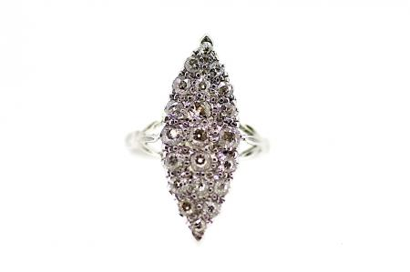 18ct White Gold Cluster Ring (2069)
