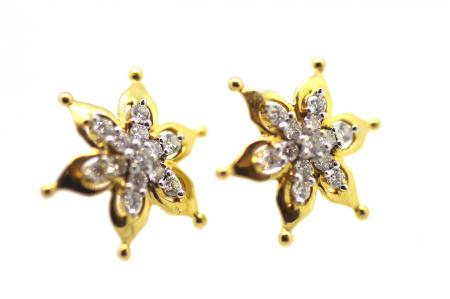 Vintage Diamond Star Stud Earrings (2117)