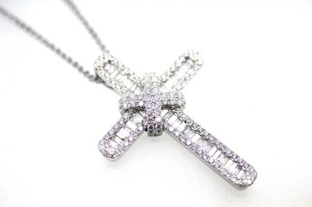 Full Diamond Studded Cross Pendant (2170)