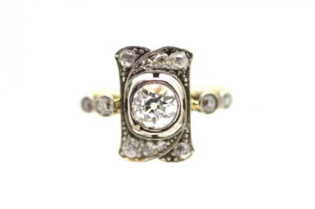 Ornate Art Deco Diamond Ring