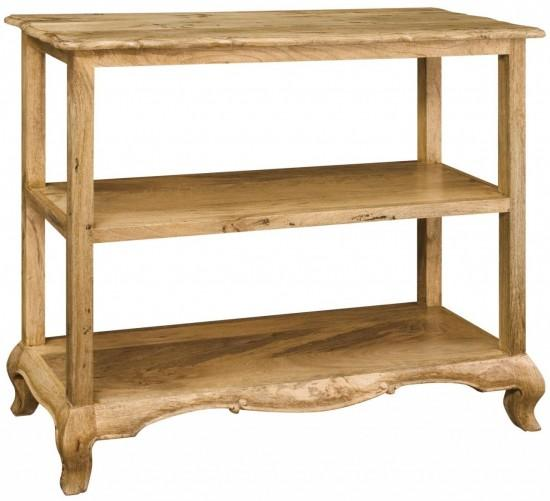 solid oak wood living room dining room console table
