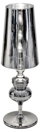 Extra Large Silver Chrome Base Modern Table Lamp