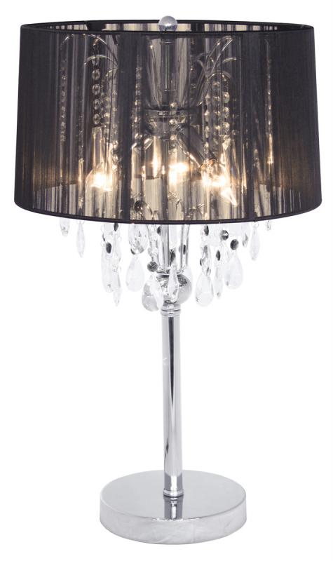 Black Thread Crystal Chandelier Shabby Chic Table Lamp | Mulberry Moon