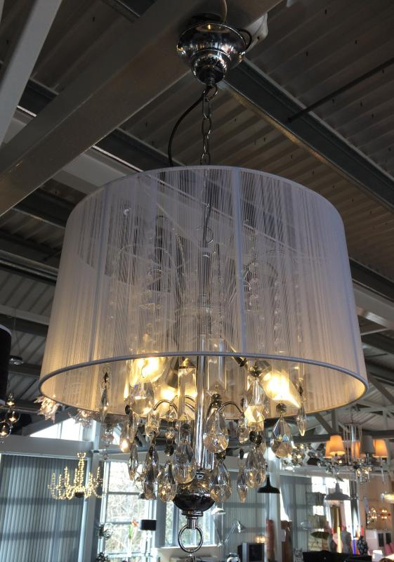 Large shabby chic white thread crystal table lamp chandelier table lamp chandelier availability in stock aloadofball Images