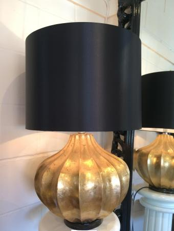 lamp black shade large gold chunky base modern table lamp black shade. Black Bedroom Furniture Sets. Home Design Ideas
