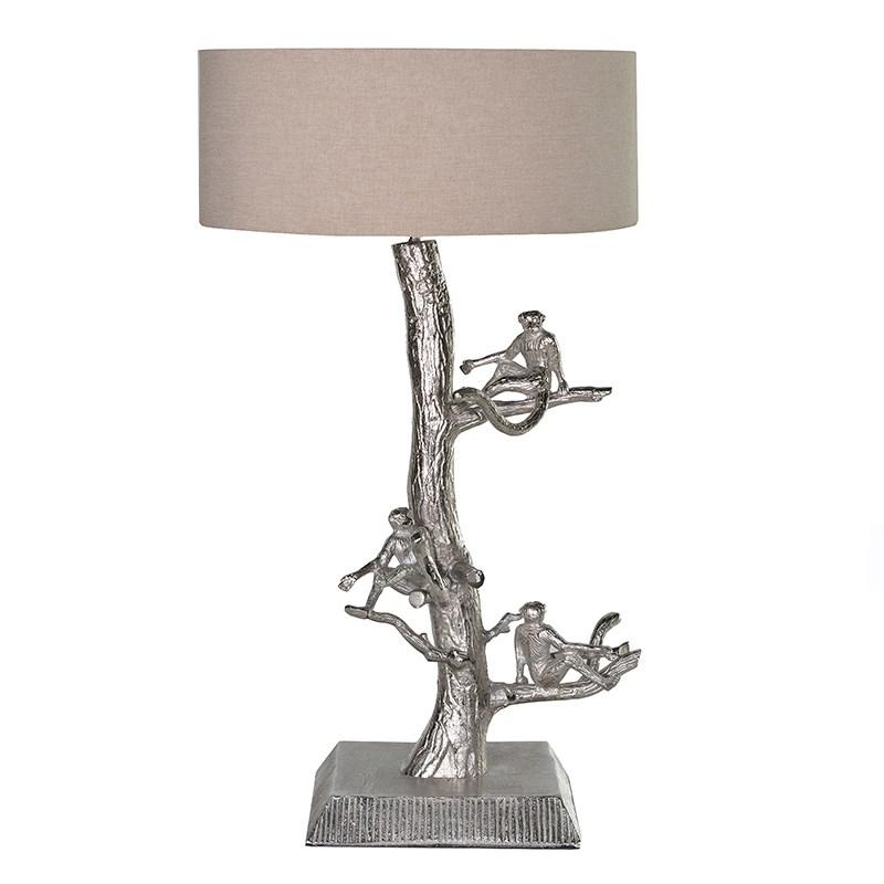 Monkeys in tree table lamp with ivory shade mulberry moon monkeys in tree table lamp with ivory shade mozeypictures Choice Image