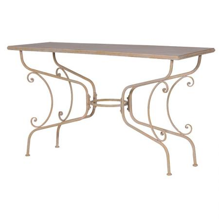 Shabby Chic Metal Ornate Patio Table