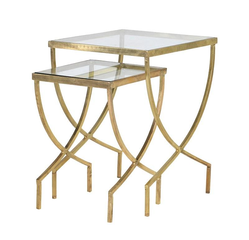 Contemporary Nesting Tables ~ Contemporary nest of greek curve tables side