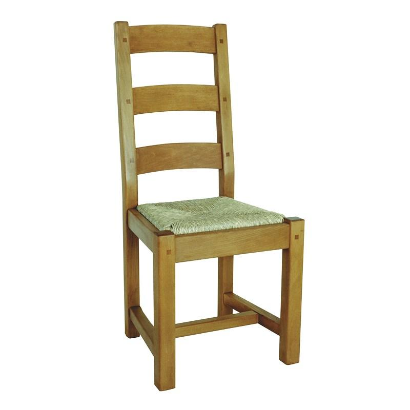 french solid oak rattan seat dining room chair
