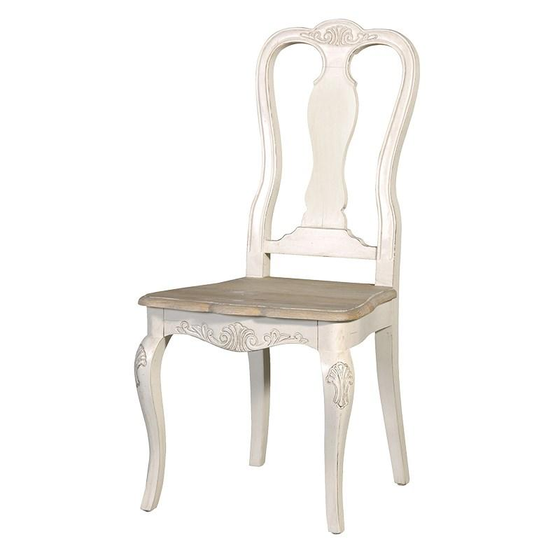 French Cream Oak Shabby Chic Carved Dining Chair  : lgfrench cream oak shabby chic carved dining chair  from mulberry-moon.co.uk size 800 x 800 jpeg 28kB