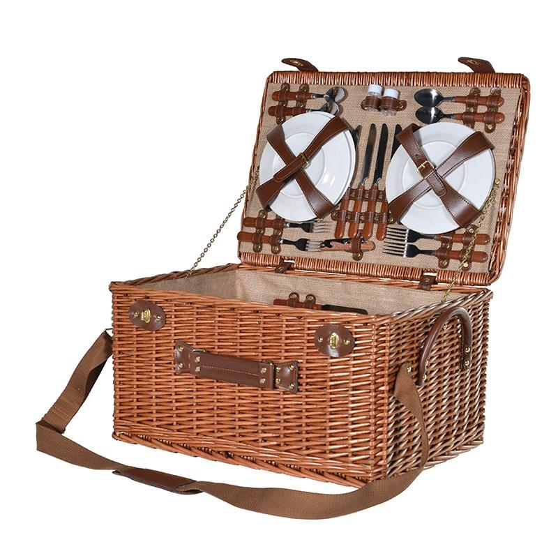 Myer Wicker Picnic Basket : Large wicker picnic basket servings mulberry moon