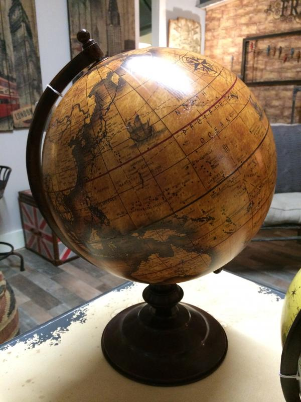 Large brown world map globe sculpture ornament mulberry moon large brown world map globe sculpture ornament gumiabroncs Images
