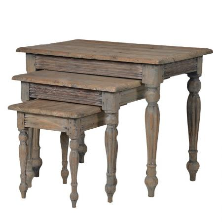 French Styled Solid Wood Nest Of Tables