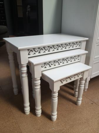 Belgravia White Nest Of Tables / Side Tables