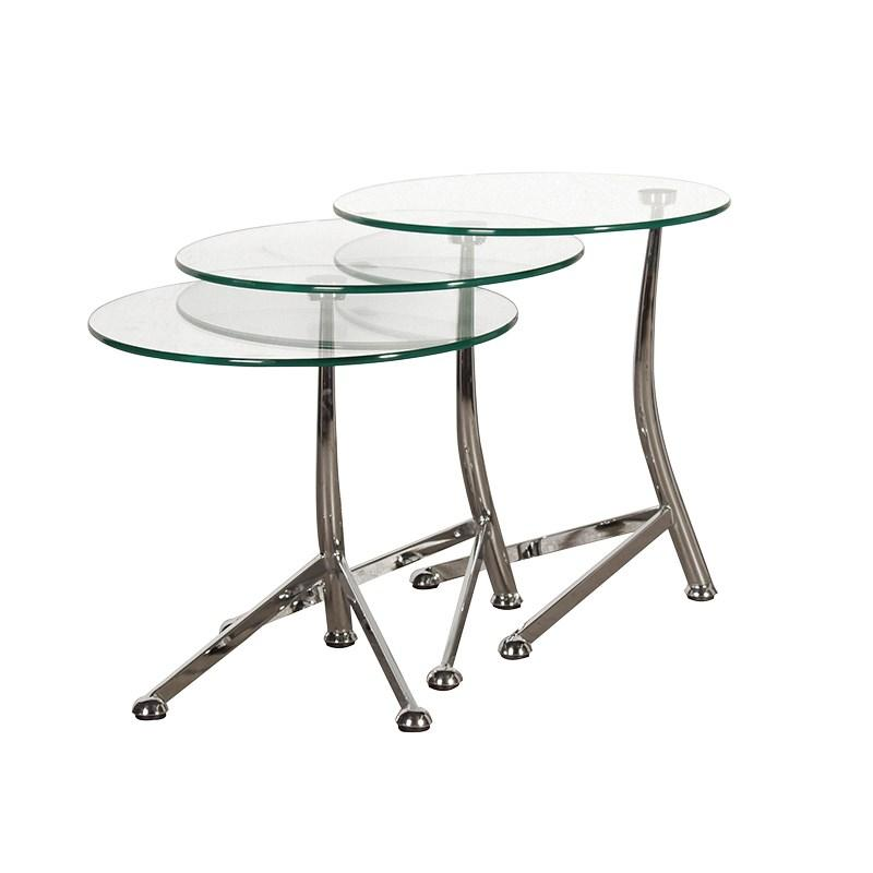 Nest Of 3 Round Glass Tables Side Tables Mulberry Moon