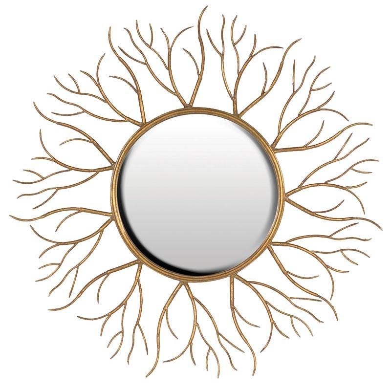 Large contemporary gold vine round mirror mulberry moon for Large round gold mirror