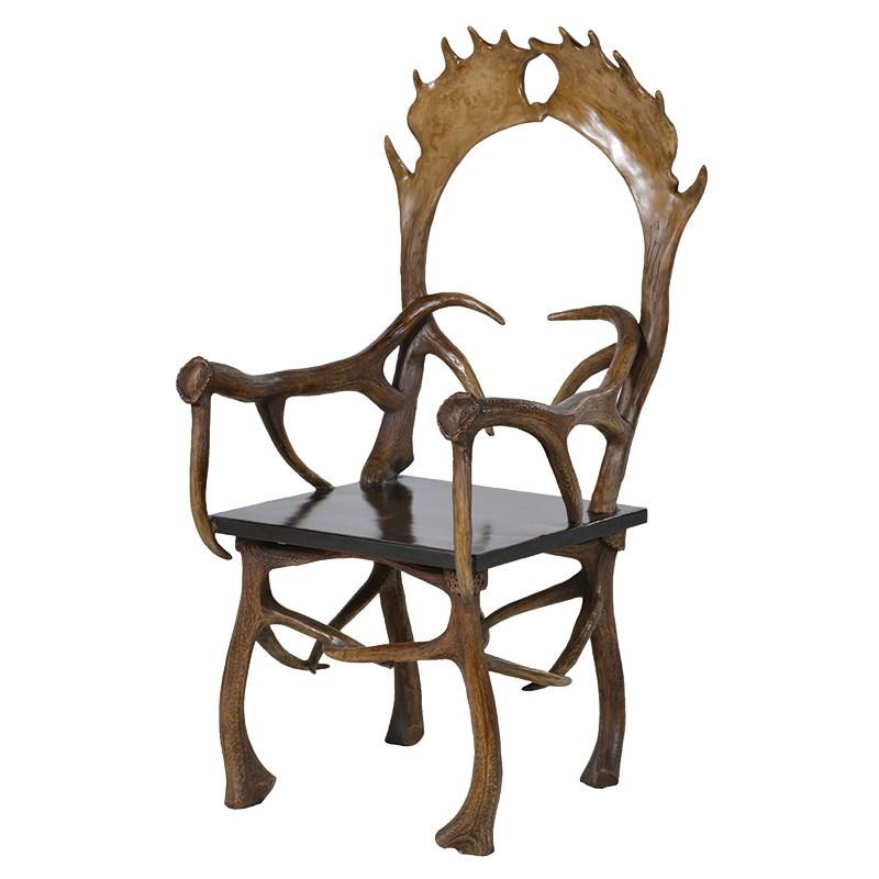 Modern Moose Antler Effect Wooden Chair Mulberry Moon