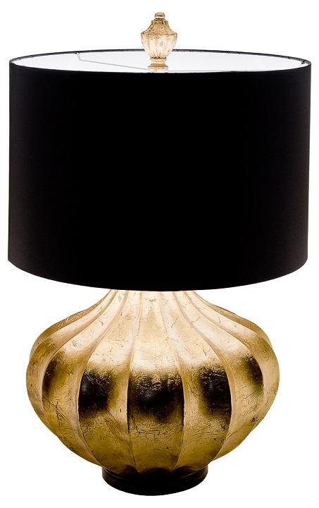 Large gold pumpkin base table lamp black shade mulberry moon large gold pumpkin base table lamp black shade mozeypictures Gallery