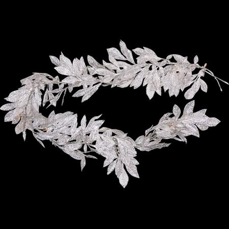White /Silver Leaves Garland Light