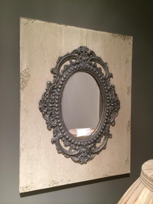Ornate Wall Mirror In Distressed Frame : Mulberry Moon