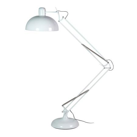 Giant White Contemporary Floor Angle Lamp