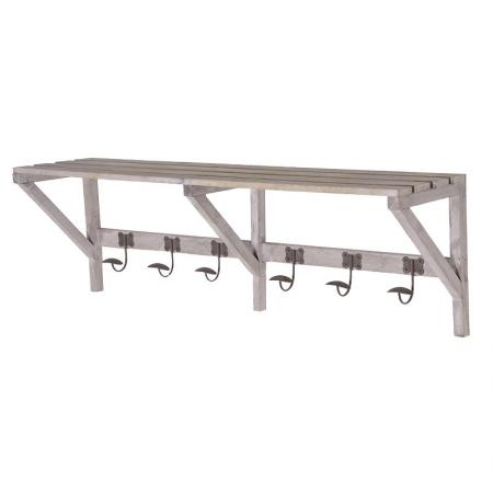 Hallway Coat Rack Unit With Top Shelf
