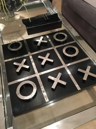 Giant Luxury Black & Silver Noughts & Crosses Board