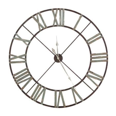 Giant 4Ft Rustic Iron Skeleton Wall Clock