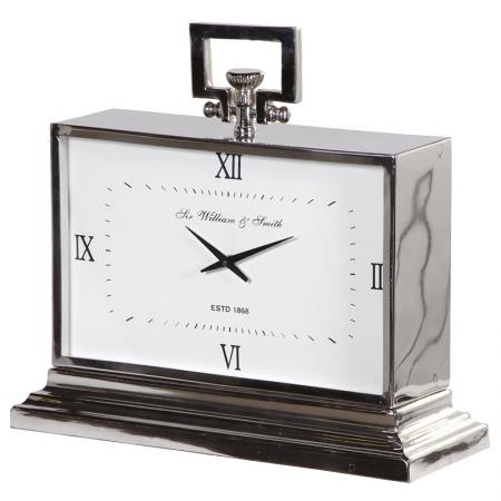 Contemporary Nickel Art Deco Styled Mantel Clock