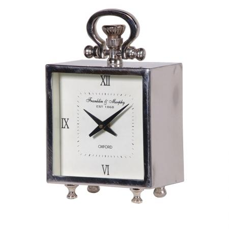 Small Modern Steel Fob Watch Mantel Clock