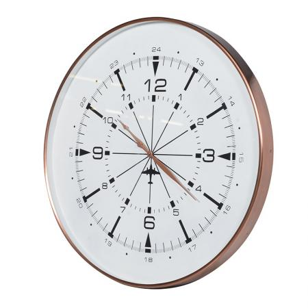 Copper Finish Wall Clock
