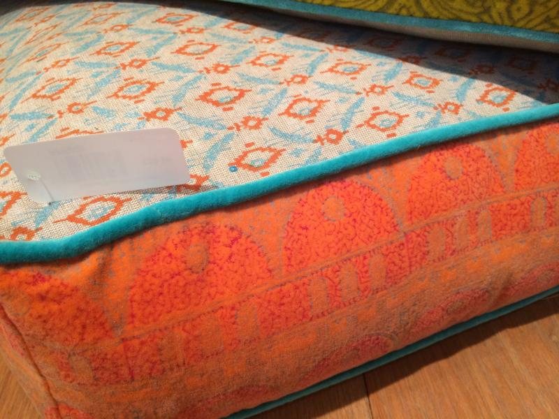 Large Orange Floor Pillows : Large Orange & Blue Floor Cushion Mulberry Moon