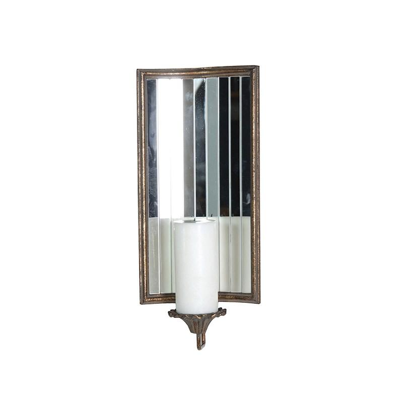 Mirrored Wall Sconces Candle Holder : Living Wall Mounted / Hanging
