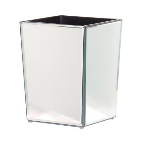 Mirrored Venetian Glass Waste Bin